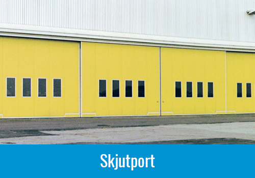 Industrial doors folding doors, yellow sliding door