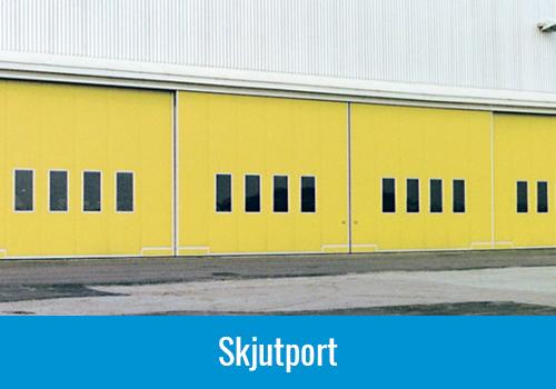 industriportar vikportar, gul skjutport