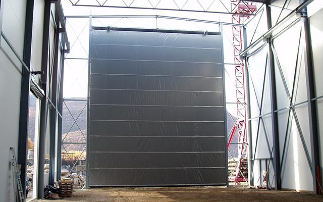 torverk dukvikport grå hangar